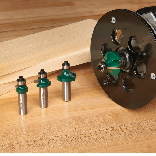 """View a Larger Image of Round Over Router Bit Set, 1/2"""" Shank"""