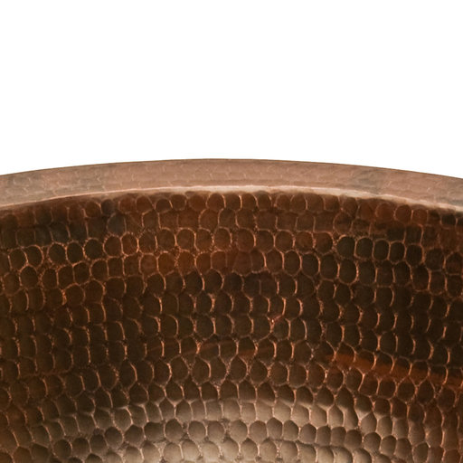 View a Larger Image of Round Under Counter Hammered Copper Sink