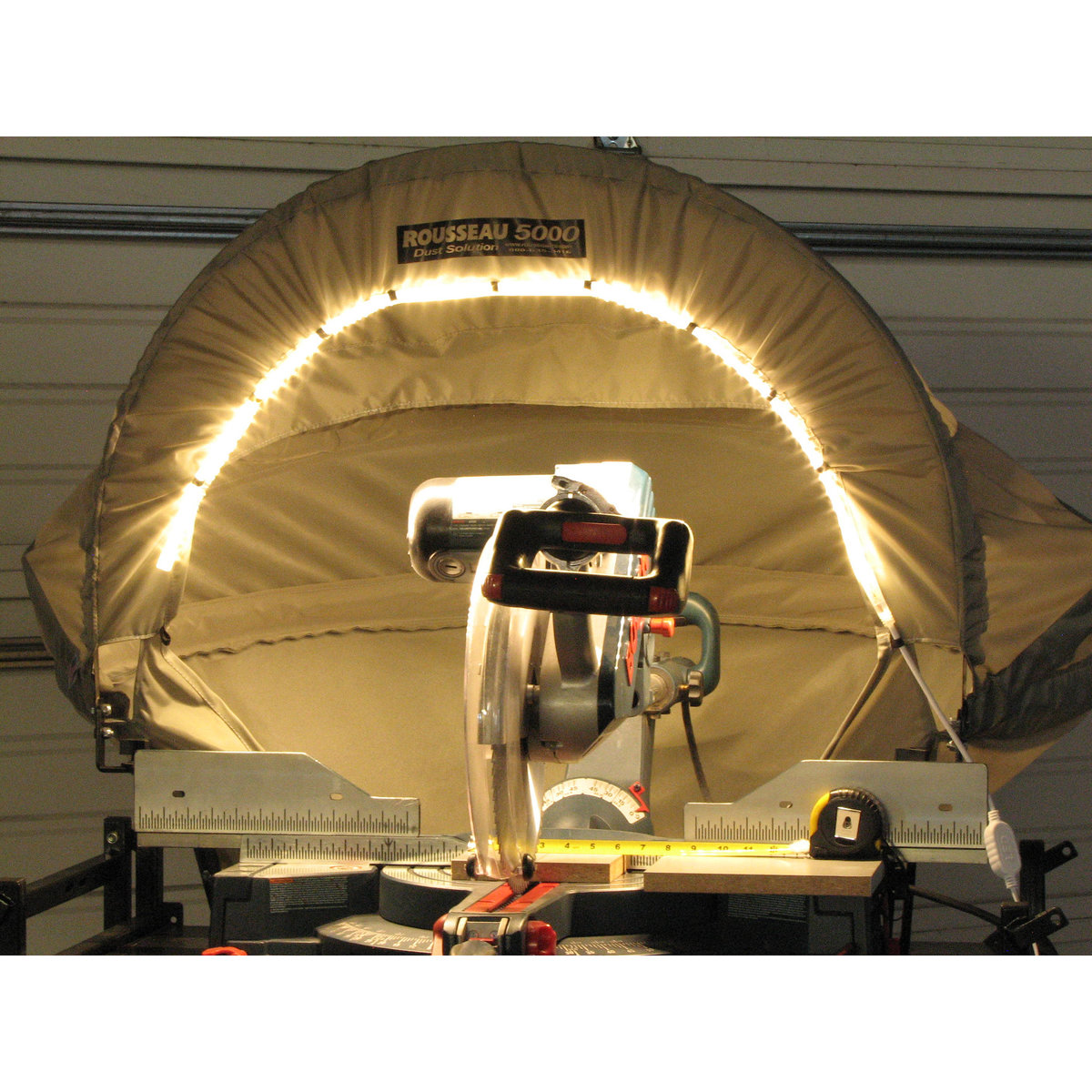 Rousseau 5000-L Lighted Dust Solution for Miter Saws