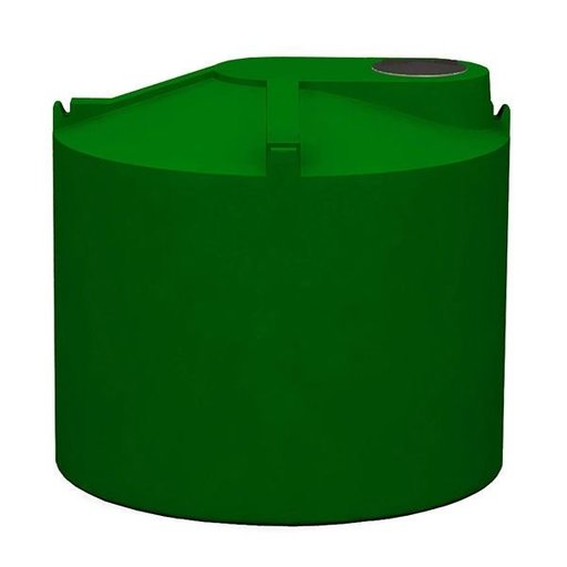 View a Larger Image of Round Rain Harvest Tank System, 1200 gallon, Green