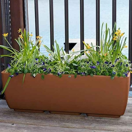 "View a Larger Image of Urban Planter, 30"" x 10"", Terra Cotta"