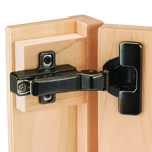 View a Larger Image of Salice 110 Degree Self Close Face Frame or Frameless Inset Hinge, Titanium Finish pair