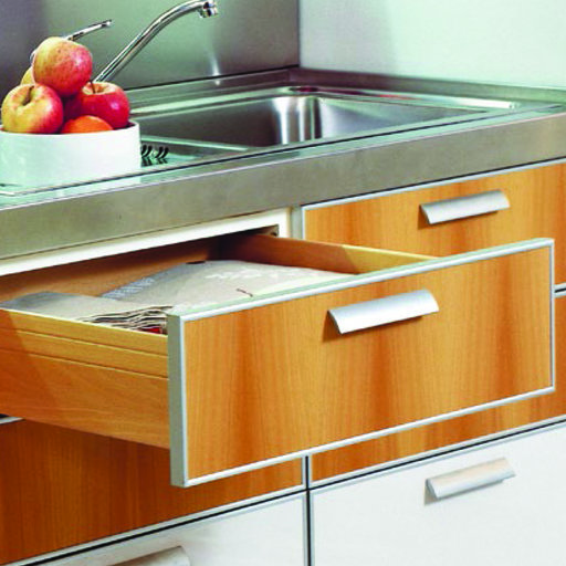 "View a Larger Image of Salice 21"" Futura Soft-Close Undermount Drawer Slide, Pair Model A7555"