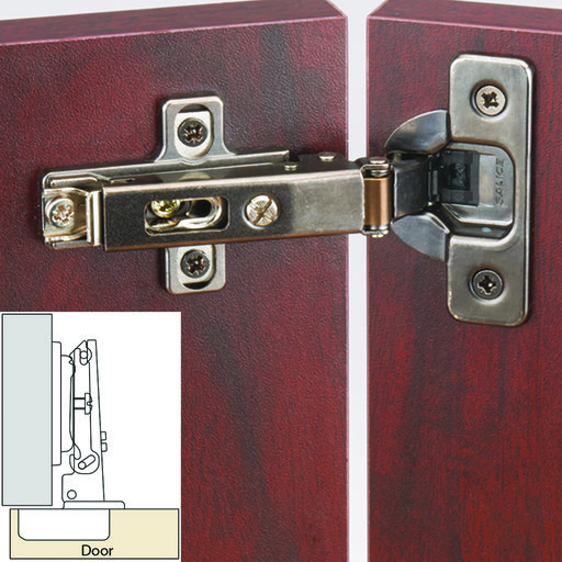 "View a Larger Image of Silentia 105 Degree Soft Close 3/8"" Overlay Hinge, Titanium Finish pair"