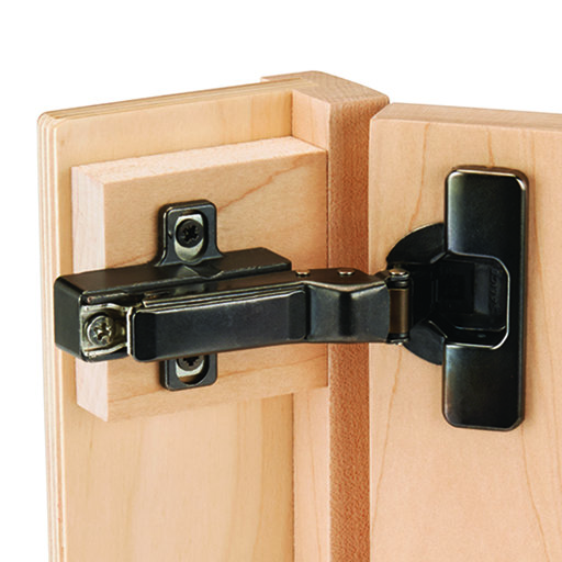 View a Larger Image of Silentia 105 Degree Soft Close Face Frame or Frameless Inset Hinge, Titanium Finish pair