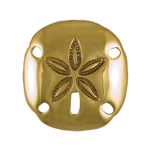 View a Larger Image of Sand Dollar Doorbell Ringer - Brass