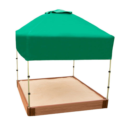 "View a Larger Image of 48"" X 48""x 37"" Telescoping Square Sandbox Canopy & Cover"
