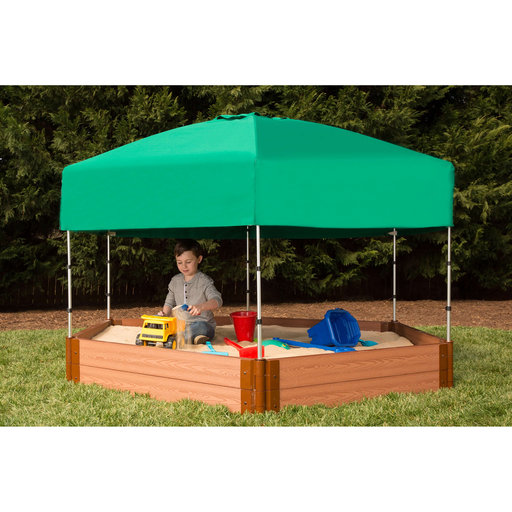 """View a Larger Image of Sandbox Kit-Telescoping Canopy/Cover - 2"""" profile Hexagon"""