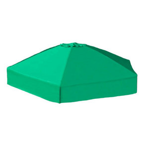 "Classic Sienna 7' x  8' x 5.5 "" Composite Hexagon Sandbox Kit with Telescoping Canopy/Cover - 2"" profile"