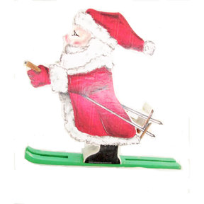 Santa on Skis  Woodworking Pattern and Picture