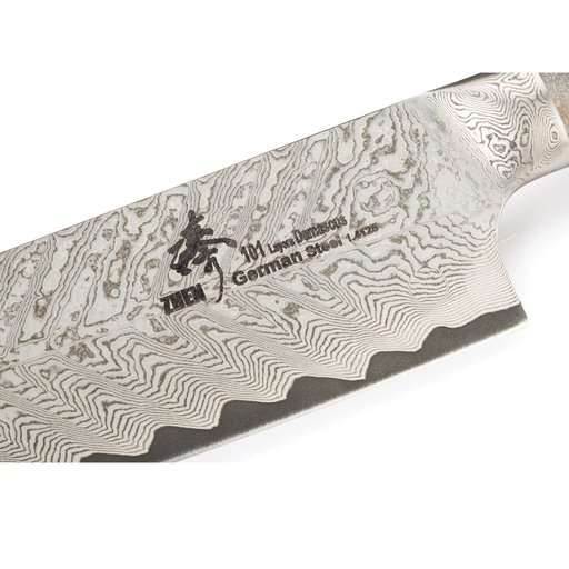 "View a Larger Image of Santoku 101-Layer German Damascus Steel Knife Blank 7"" L x 3/32"" T (180mm x 2.5mm)"