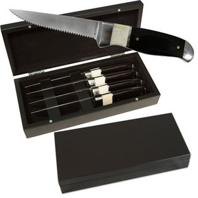 Black and White Steak Knife Set, 4 pieces