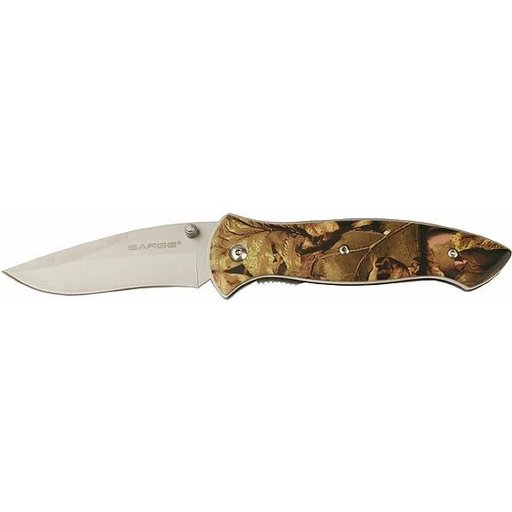 View a Larger Image of Single Blade Liner Lock Camo Folder Knife, Model SK-903