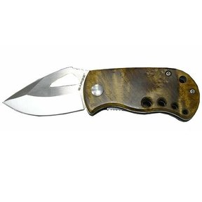 Single Blade Liner Lock Wood Folder Knife, Model SK-501MB