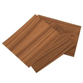 "Teak Veneer 8-1/2"" x 11"" – 2-ply Wood on Wood, 3 pieces"