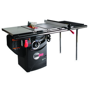 "1-3/4HP 1PH 110V Professional Cabinet Saw with 36"" Professional T-Glide Fence System"