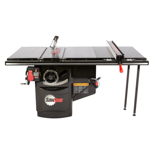 "View a Larger Image of 7.5HP 3PH 480V Industrial Cabinet Saw with 36"" Industrial T-Glide Fence System"