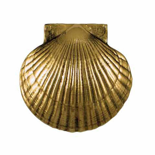 View a Larger Image of Scallop Door Knocker - Brass