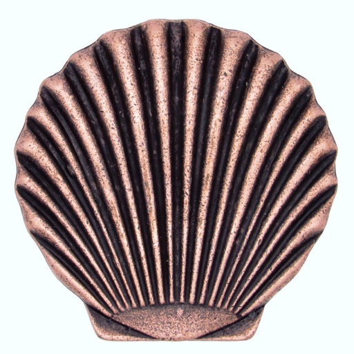 View a Larger Image of Scallop Seashell Knob, Copper Oxide
