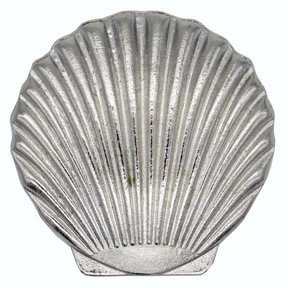 Scallop Seashell Knob, Nickel
