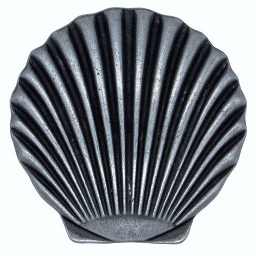 View a Larger Image of Scallop Seashell Knob, Pewter Oxide