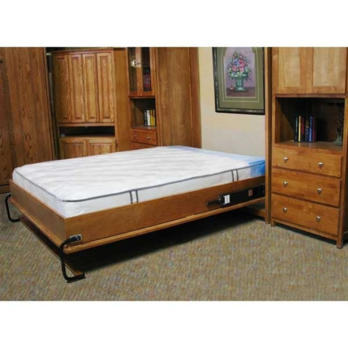 Selby Cabinet Wall Bed Mechanism For Use With Twin Size Mattress Inside Mount
