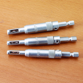 3-Piece Self-Centering Hinge Drill Bit Set