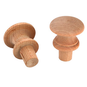 "Shaker Knob, Maple, 2"" Dia., 3/4"" Tenon 2-piece"