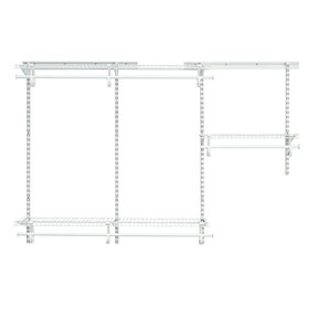 ShelfTrack Adjustable Closet Organizer 3' - 6' W,  White