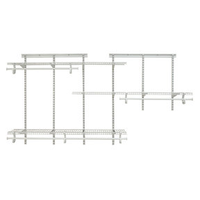 ShelfTrack Adjustable Closet Organizer 5' - 8' W, White