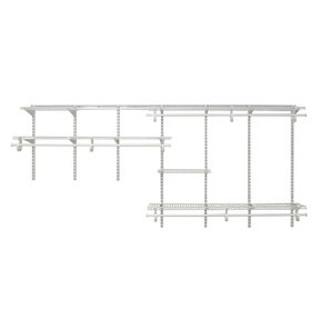 ShelfTrack Adjustable Closet Organizer 7' - 10' W, White