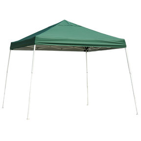 10 ft. x 10 ft. Sport Pop-up Canopy Slant Leg, Green Cover
