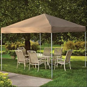 10 ft. x 10ft. Pro Pop-up Canopy Straight Leg, Desert Bronze Cover