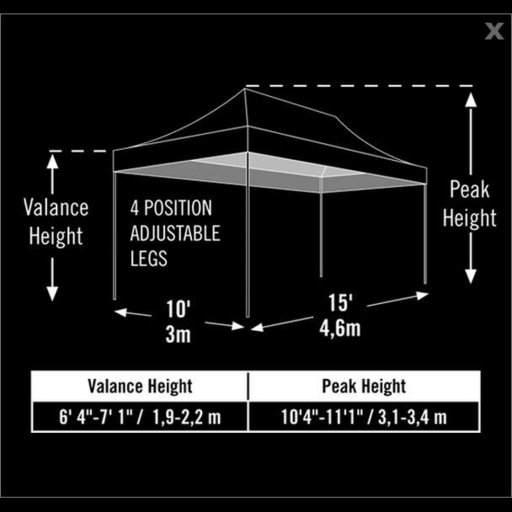 View a Larger Image of 10 ft. x 15 ft. Pro Pop-up Canopy Straight Leg, Black Cover