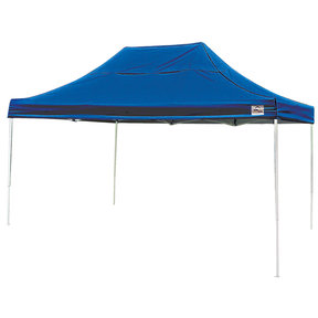 10 ft. x 15 ft. Pro Pop-up Canopy Straight Leg, Blue Cover
