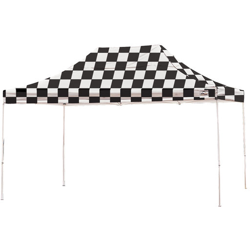 View a Larger Image of 10 ft. x 15 ft. Pro Pop-up Canopy Straight Leg, Checker Flag Cover