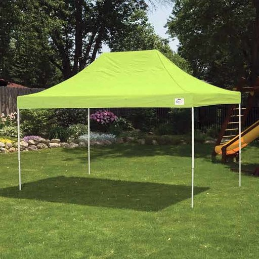 View a Larger Image of 10 ft. x 15 ft. Pro Pop-up Canopy Straight Leg, Green Cover