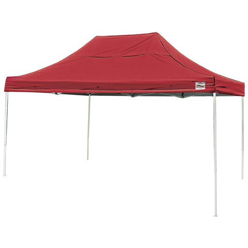 View a Larger Image of 10 ft. x 15 ft. Pro Pop-up Canopy Straight Leg, Red Cover