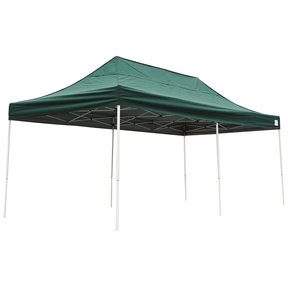 10 ft. x 20 ft. Pro Pop-up Canopy Straight Leg, Green Cover