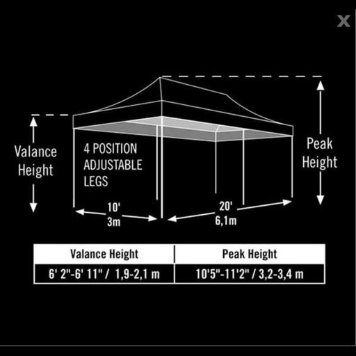 View a Larger Image of 10 ft. x 20 ft. Pro Pop-up Canopy Straight Leg, Green Cover