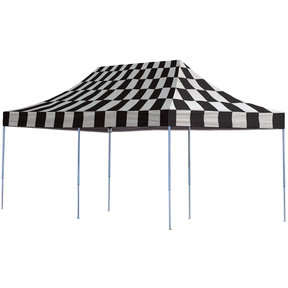 10ft. x 20ft. Pro Pop-up Canopy Straight Leg Checkered Flag Cover