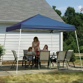 12 ft. x 12 ft. Sport Pop-up Canopy Slant Leg, Blue Cover