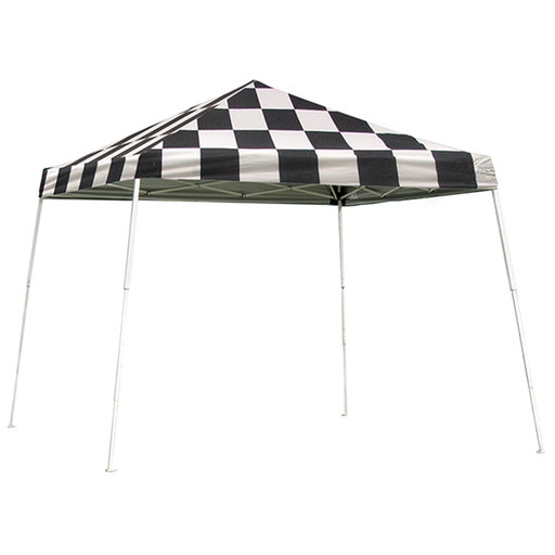 View a Larger Image of 12 ft. x 12 ft. Sport Pop-up Canopy Slant Leg,Checker Flag Cover