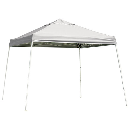 View a Larger Image of 12 ft. x 12 ft. Sport Pop-up Canopy Slant Leg, White Cover