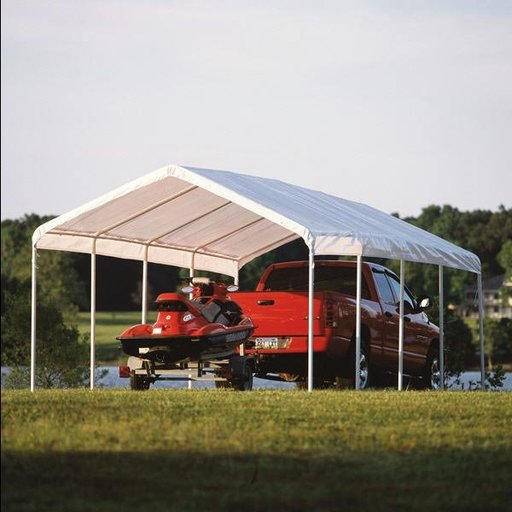 View a Larger Image of 12 ft. x 26 ft. White Canopy Replacement Cover Fits, 2 in. Frame