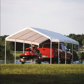 12 ft. x 26 ft. White Canopy Replacement Cover Fits, 2 in. Frame