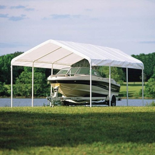 "View a Larger Image of 12 x 20 ft. White Canopy Replacement Cover, Fits 2"" Frame"