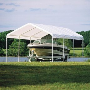 "12 x 20 ft. White Canopy Replacement Cover, Fits 2"" Frame"