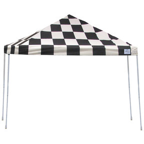 12ft. x 12 ft. Pro Pop-up Canopy Straight Leg, Checker Flag Cover
