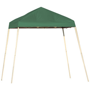 8 ft. x 8 ft. Sport Pop-up Canopy Slant Leg, Green Cover